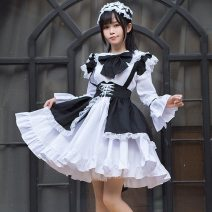 National costume / stage costume Spring 2021 Full set of maid's clothing (including socks), full set of maid's clothing (excluding socks) S,M,L,XL,XXL Teacher meow 18-25 years old polyester fiber 96% and above
