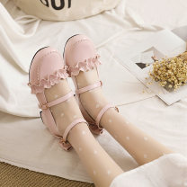 Low top shoes Other / other Round head PU Flat bottom Flat heel (1cm or less) Shallow mouth PU Spring 2021 Flat buckle Lolita Adhesive shoes Youth (18-40 years old), middle age (40-60 years old) rubber Single shoes Shallow mouth, bow PU Face dressing
