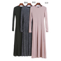 Dress Spring 2021 Black, army green, dark green, red, black flower, khaki, bean paste, purple XS,S,M,L Mid length dress singleton  Long sleeves routine Type A 11338B-18-10-3