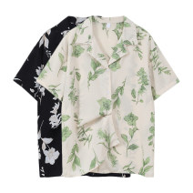 shirt Black, white Average size Spring 2021 cotton 31% (inclusive) - 50% (inclusive) Short sleeve Sweet Regular routine 18-24 years old Straight cylinder