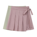 skirt Summer 2021 S,M,L Apricot, black, pink Short skirt Sweet High waist A-line skirt Solid color 18-24 years old 31% (inclusive) - 50% (inclusive)