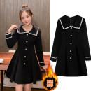 Nursing clothes black M,L,XL Other / other Socket Spring autumn winter other Medium length Korean version Solid color Side opening