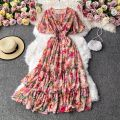 Dress Autumn 2020 Average size Mid length dress singleton  Long sleeves commute V-neck High waist Decor Socket A-line skirt routine Others 18-24 years old Type A Korean version 30% and below other other