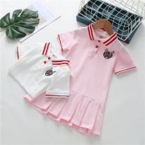 Dress female Yu Shengli Cotton 80% other 20% summer leisure time Solid color other polo 18 months, 2 years old, 3 years old, 4 years old, 5 years old, 6 years old, 7 years old, 8 years old, 9 years old Chinese Mainland Guangdong Province Foshan City