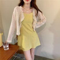Fashion suit Summer 2021 S. M, average size Suspender skirt, cardigan 18-25 years old Other / other 0315g 30% and below