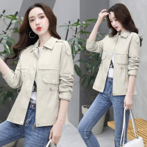 leather clothing Bestbao / bestbao Spring 2020 XL,L,M Black, oil green, beige Medium length Long sleeves Self cultivation commute other zipper routine PU pocket 35-39 years old 31% (inclusive) - 50% (inclusive)