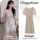 Dress Summer 2020 Milk tea apricot S,M,L,XL Mid length dress singleton  Short sleeve commute Crew neck High waist Solid color zipper A-line skirt Others 18-24 years old Korean version Bowknot, button, lace, fold, ruffle, tuck, fungus, lace JZW3032