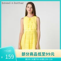 Dress Winter of 2018 Pink yellow P/160XS,0/165S,1/170M,2/175L Middle-skirt Fake two pieces Sleeveless Sweet Crew neck High waist Solid color zipper other other Others 25-29 years old bread n butter 8SB0BNBDRSW181047 More than 95% polyester fiber Ruili