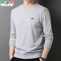 Sweater Fashion City Cartelo / Cartelo crocodile 1568 dark grey 1568 black 1568 Navy 1568 white 1568 light grey 165 170 175 180 185 190 Solid color Socket routine Crew neck autumn easy leisure time middle age Business Casual routine Cotton 100% cotton Summer 2020 Pure e-commerce (online only)