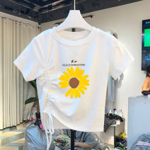T-shirt M L XL XXL Summer 2020 Short sleeve Crew neck easy have cash less than that is registered in the accounts routine commute polyester fiber 86% (inclusive) -95% (inclusive) 18-24 years old Korean version youth Zgar MQAF51740 Polyester 95% polyurethane elastic fiber (spandex) 5%