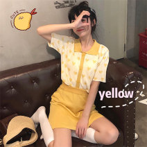 Fashion suit Summer 2021 S,M,L,XL Yellow suit 18-25 years old S&M21040401 96% and above cotton