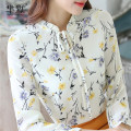 Lace / Chiffon Spring 2017 Long sleeves commute Socket singleton  Self cultivation Crew neck Decor pagoda sleeve 25-29 years old Bow, ruffle, lace, print, stitching lady