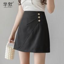 skirt Summer 2020 S,M,L,XL,2XL Short skirt commute High waist A-line skirt Solid color Type A 30% and below other polyester fiber Asymmetry Korean version