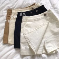 Casual pants Khaki, apricot, white, black S, M Summer 2021 shorts Wide leg pants High waist commute routine 18-24 years old 31% (inclusive) - 50% (inclusive) Other / other cotton Korean version