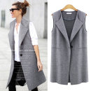 Vest Autumn 2021 Gray, black S,M,L,XL,2XL,3XL,4XL,5XL Medium length Half open collar street Solid color A button other 25-29 years old 96% and above hemp