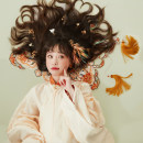 Hanfu 96% and above Spring 2021 Standing collar, slanting skirt, long coat, horse face skirt, cloud shoulder polyester fiber