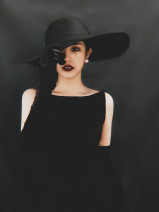 Dress Autumn 2020 Black Sleeveless skirt + black gloves, black gloves, black sleeveless skirt, collection add shopping cart, pay for transparent shoulder strap S. M, l, XL, one size fits all Mid length dress singleton  Sleeveless commute One word collar High waist Solid color Others Type A Simplicity