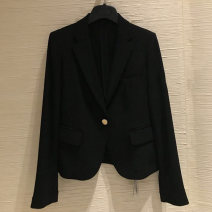 suit Spring 2021 black Long sleeves have cash less than that is registered in the accounts Self cultivation tailored collar A button Versatile routine Solid color 71% (inclusive) - 80% (inclusive) Cellulose acetate Pinge Dixin