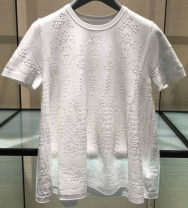 T-shirt white 2 / s, 3 / m, 4 / L, 5 / XL Summer of 2019 Short sleeve Crew neck Self cultivation Regular routine Cellulose acetate 30% and below Santa Anastasia