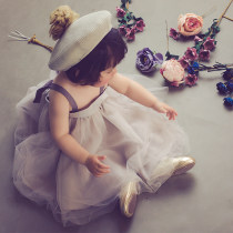 Dress Cherry powder elegant grey mysterious grey Other / other female 1-6 years old (average size) Polyester 100% summer lady Strapless skirt Solid color cotton Cake skirt twenty million one hundred and seventy-six thousand five hundred and eighty-eight Class B