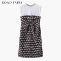 Dress Summer 2021 black XS,S,M Mid length dress singleton  Sleeveless commute Crew neck High waist Cartoon animation Socket other routine Others 25-29 years old Type H Yayin Korean version Inlaid diamond, chain, fold, lace, button, print 31% (inclusive) - 50% (inclusive) other