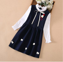 Dress female Other / other 110cm,120cm,130cm,140cm,150cm,160cm,170cm Other 100% spring and autumn Long sleeves cotton A-line skirt Class B