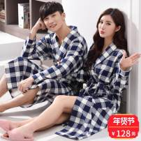 Pajamas / housewear set male Other / other 175(XL),180(XXL),185(XXXL),170(L),160(M) R1936 dark blue, r5117 dark blue, r4035 kimono, r5135 men's, 723 women's cotton Long sleeves Sports Home pure cotton