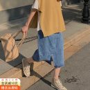skirt Spring 2021 S,M,L,XL Mid length dress commute High waist A-line skirt Solid color Type A 18-24 years old 51% (inclusive) - 70% (inclusive) Other / other cotton pocket Korean version
