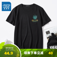 T-shirt Youth fashion routine S M L XL XXL JeansWest Short sleeve Crew neck standard Other leisure Cotton 100% youth routine Youthful vigor Cotton wool Spring 2020 other printing cotton other Domestic famous brands Pure e-commerce (online only) More than 95%