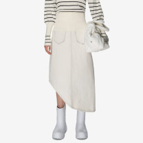 skirt Winter 2020 S,M,L longuette commute High waist Denim skirt Solid color Type A 25-29 years old More than 95% Denim Studio1till8 cotton Simplicity