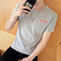 T-shirt Youth fashion routine Others Short sleeve Crew neck standard daily summer teenagers routine tide 2019 Cartoon animation printing Creative interest No iron treatment Fashion brand