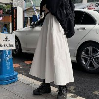 skirt Winter 2020 S M L XL White black Middle-skirt commute High waist A-line skirt Solid color Type A 18-24 years old More than 95% Wanyan polyester fiber Korean version Polyester 100% Exclusive payment of tmall