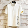 Polo shirt Other / other Youth fashion routine Gray, white, black S. M, l, XL, 2XL, 3XL, 4XL, 5XL, XS plus small easy Other leisure summer Short sleeve tide routine Large size Cotton 100% 2021 printing
