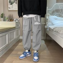 Casual pants Others Youth fashion Black, apricot, grey, pink S. M, l, XL, 2XL, 3XL, XS plus small routine trousers Other leisure easy summer teenagers tide Pocket decoration washing