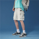 Casual pants Others Youth fashion Black, army green, beige Shorts (up to knee) Other leisure easy summer youth tide 2021 Polyester 100%