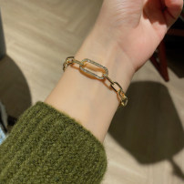 Bracelet Alloy / silver / gold RMB 1.00-9.99 Other / other A bracelet brand new goods in stock Japan and South Korea female Fresh out of the oven Alloy inlaid artificial gem / semi gem other