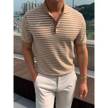 Polo shirt Other / other Fashion City routine M, L standard Other leisure summer Short sleeve Exquisite Korean style routine youth 2021 stripe