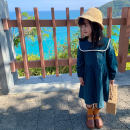 Dress blackish green female LAN xiaopa 80, 90, qiqichuan, 100, 110, 120, 130, 140, 150 Other 100% spring Forest Department Long sleeves Solid color cotton A-line skirt other 18 months, 2 years old, 3 years old, 4 years old, 5 years old, 6 years old, 7 years old, 8 years old, 9 years old, 10 years old