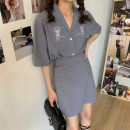 Fashion suit Summer 2020 S, M Khaki, blue Other / other