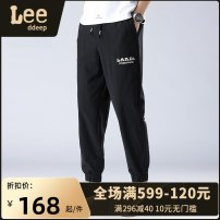 Casual pants LeedDeep Youth fashion Black, light grey M,L,XL,2XL,3XL,4XL routine trousers Other leisure easy No bullet K08 - K870 Four seasons teenagers tide 2021 middle-waisted Little feet New polyester fiber 100% Sports pants Pocket decoration No iron treatment Solid color polyester fiber