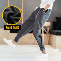 Casual pants Others Fashion City M,L,XL,2XL,3XL,4XL,5XL Plush and thicken trousers Travel? easy No bullet winter youth Chinese style 2019 Medium low back Little feet Cotton 100% Haren pants washing cotton cotton More than 95%