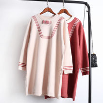 Wool knitwear Spring of 2018 One size fits all - enterprise production Black, rose, off white Long sleeves singleton  Socket other 51% (inclusive) - 70% (inclusive) Medium length routine commute Straight cylinder Low crew neck routine other Socket Korean version 18-24 years old ChunZi Meiyi