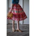skirt Spring 2021 XS [spot], s [spot], m [spot], l [spot], m [pre-sale mid May], l [pre-sale mid May], XS [pre-sale mid May], s [pre-sale mid May] Red rose + geometric pattern, pink rose Mid length dress Versatile High waist A-line skirt Decor Type A 25-29 years old Chiffon