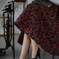 skirt Spring 2021 XS [spot], s [spot], m [spot], l [spot] Mid length dress commute High waist A-line skirt Decor Type A 25-29 years old More than 95% brocade polyester fiber printing Retro