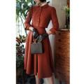 skirt Autumn 2020 XS [spot], s [spot], m [spot], l [spot] Pumpkin (just skirt) Mid length dress Retro High waist A-line skirt Solid color Type A 25-29 years old Wool wool