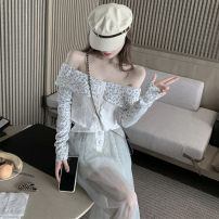 short coat Summer 2020 S M Skirt top Long sleeves Two piece set Straight cylinder One word collar 18-24 years old Philenkay 96% and above other Other 100% Pure e-commerce (online only)