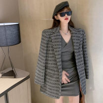 shirt Grey dress suit coat black dress S M L Winter 2020 other 96% and above Long sleeves commute Medium length V-neck Socket Solid color 18-24 years old Straight cylinder Philenkay Korean version 1197cnYh Other 100% Pure e-commerce (online only)