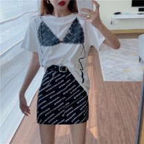 shirt Top skirt S M L Summer 2021 other 96% and above Short sleeve commute Regular Crew neck routine other 18-24 years old Self cultivation Philenkay Korean version 0830# Other 100% Pure e-commerce (online only)