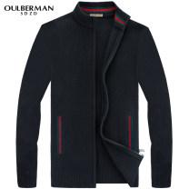 T-shirt / sweater Oulberman SDZD Fashion City Black dark grey M/170 L/175 XL/180 XXL/185 3XL/190 4XL routine Cardigan stand collar Long sleeves BM890-8 winter Straight cylinder 2016 Polyester fiber 59.6% polyacrylonitrile fiber (acrylic fiber) 22.8% polyamide fiber (nylon fiber) 10.9% wool 6.7% youth
