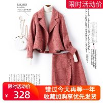 Fashion suit Autumn of 2019 S M L XL Off white rose red Chinese red lotus root pink black and white check bean paste 25-35 years old Autumn dawn TZ1950 96% and above wool Wool 100% Pure e-commerce (online only)